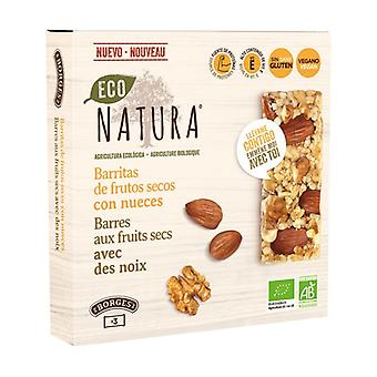 Nut Bars with Nuts 3 bars of 25g