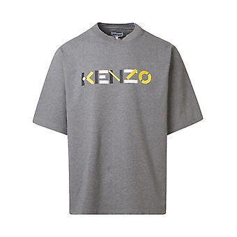 Kenzo Fa65ts0554sk95 Men's Grey Cotton T-shirt