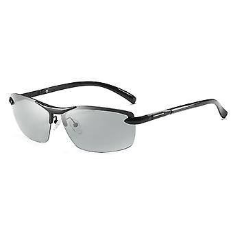 Photochromic Polarized Sunglasses, Men Discoloration Eyewear, Anti Glare
