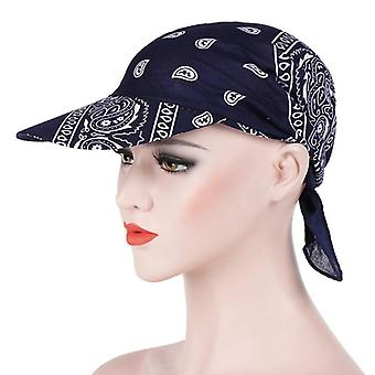 Summer Beach Sun Hats Uv Protection Female Printed Cap