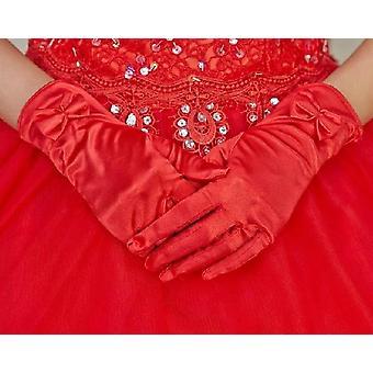 Krátke svadobné rukavice