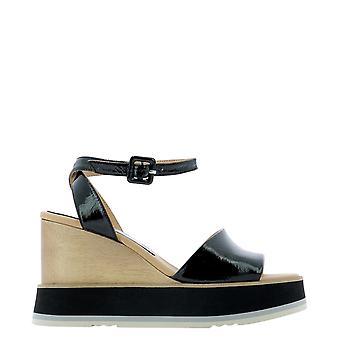 Paloma Barceló Lacoloryblack Women's Black Leather Sandals