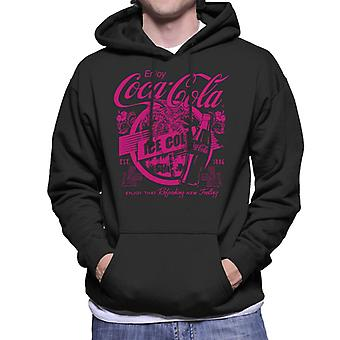 Coca Cola Enjoy That Ice Cold Refreshing New Feeling Men's Hooded Sweatshirt