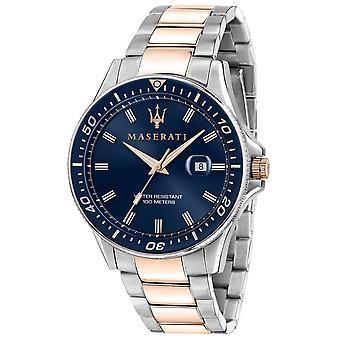 Maserati R8853140003 Montre-bracelet Sfida Two Tone Bracelet Homme