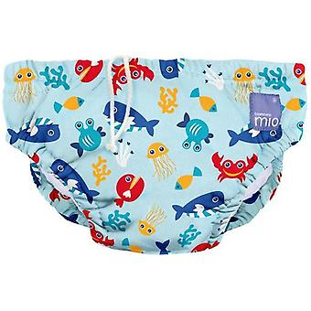 Bambino mio Diaper Reusable Bathing Suit Small Blue Sea from 0 to 6 Months