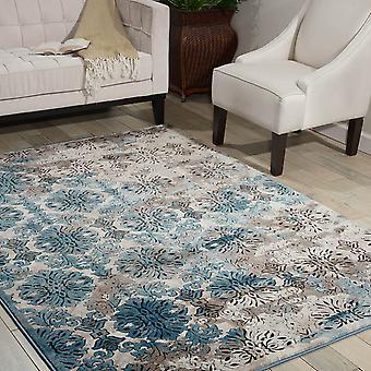 Krm05 dywany karmy w kości słoniowej i niebieski