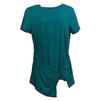 Cuddl Duds Women's Top Softwear Stretch Twist Front Tee Green A373492