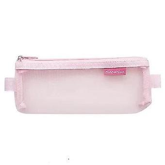 Transparent Mesh Pencil Bag