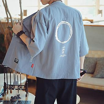 Japanese Kimonos Top Coat Cosplay Costume Print Asian Clothe