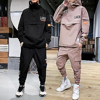 Baseball Jacket Men's Hooded Jacket+pant