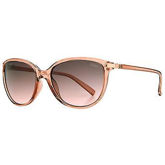 Suuna Soft Cat Eye Metal Rim Sunglasses - Peach