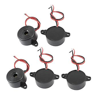 Dc 3-24v 85db Black Sound Electronic Buzzer Alarm