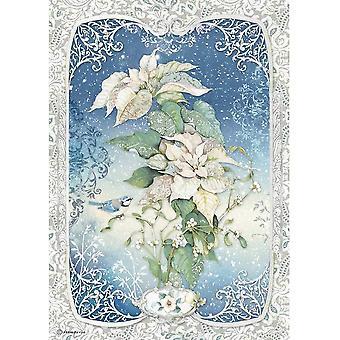 Stamperia Reispapier A4 Poinsettia