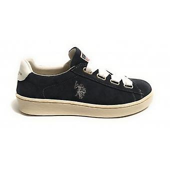 Schoenen Vrouwen Amerikaanse Polo Sneaker Model Tara Suede Col.blue Navy Ds18up11