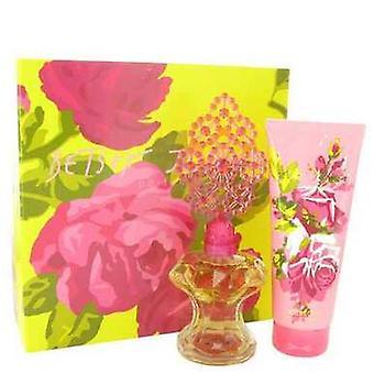 Betsey Johnson By Betsey Johnson Gift Set -- 3.4 Oz Eau De Parfum Spray + 6.7 Oz Body Lotion (women) V728-450193