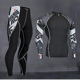 Men Running Shirt Training Pants Thermal Underwear (set 2)