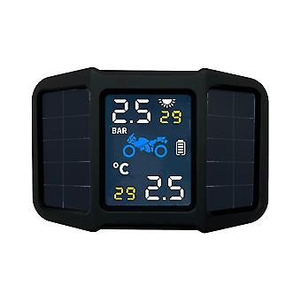 Tire pressure monitoring system tpms solar power with 2 external sensors real-time display temperature