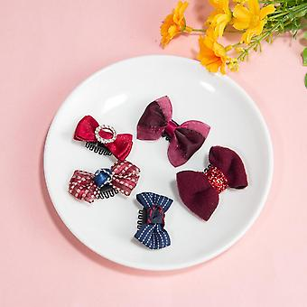 Lovely Baby Bowknot Hairpins Kids Clips Barrettes Cute Bb Headwear Accessories