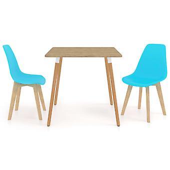 3 Piece Dining Set Blue