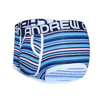 Andrew Christian Hampton Stripe Boxer w / Aproape gol | Lenjerie de corp pentru barbati | Pantaloni scurți boxeri pentru bărbați