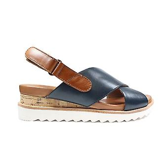 Ara Valencia 28206-05 Blue Leather Womens Sling Back Sandals