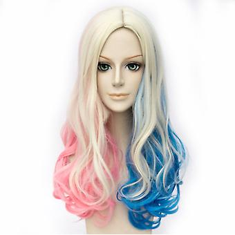 Suicide Squad Anime Wigs Harleen Quinzel Loose Hair Wigs