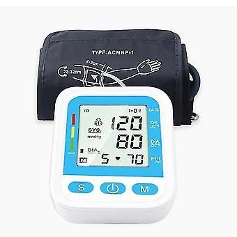 上腕の血圧モニター英語の声自動電気の動く眼圧計LCDスクリーンデジタル血圧計