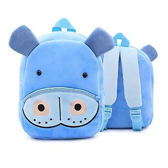 Hippo lapset'vauvan pehmkotie pieni koululaukku reppu sarjakuva laukku