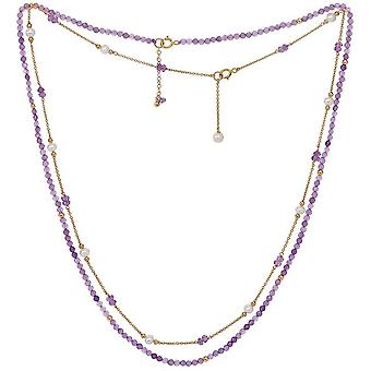 Pearls of the Orient Clara Amethyst Fine Double Chain Necklace - Purple