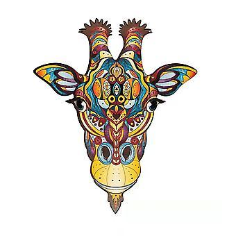 3D en bois jouet jouet enfants puzzle éducatif girafe forme de girafe pt40