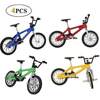 HanFei 4 Stuck Finger Fahrrad Mini Fahrrad Spielzeug Legierung Finger Mountainbike Modell Ornamente