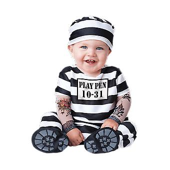 Baby Age 6 - 24 Months Prisoner Convict Costume Toddler Halloween Fancy Dress