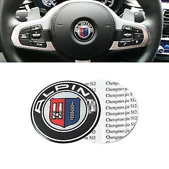 45mm Steering Wheel Badge Emblem Sticker For BMW Alpina E61 E60 E90 E91 E92 M3 X5 Z3 3 Series 5 Series