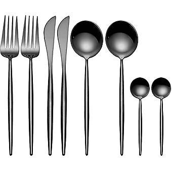 HanFei 8-teiliges Besteckset 18/10 Edelstahl Besteckset, Dinner Essbesteck Messer Gabel Lffel,