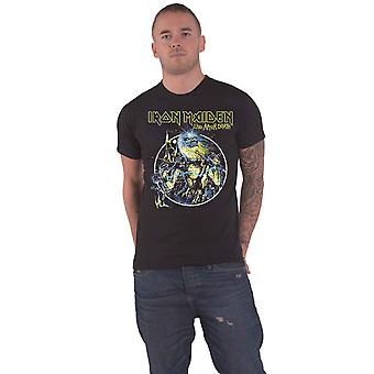 Iron Maiden T Shirt Live After Death Band Logo new Official Mens Black
