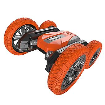 2.4G rc stunt car 360° rotation double-sided driving with led light and music crawler