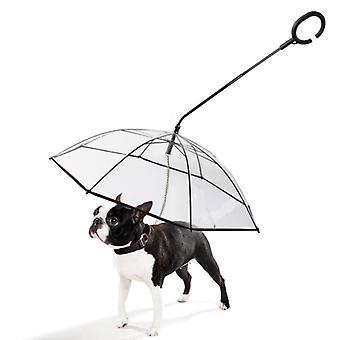 小犬のための調節可能なリーシュとペットの歩く傘