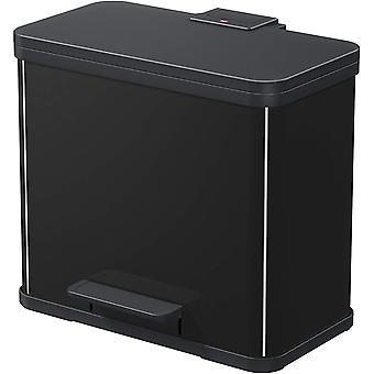 HanFei Öko trio Plus L | Mülltrenner 3 x 9 Liter | 27 Liter | Soft Close Deckeldämpfung | 3-In-1