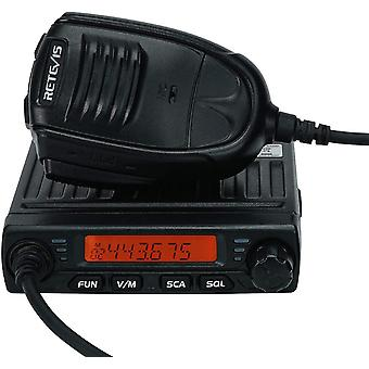 FengChun RT98 Mini Mobilgerät 199 Kanäle CTCSS/DCS DTMF Amateurfunk mit Mikrofon (Schwarz)