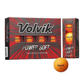 Volvik Powersoft Coloured Golf Balls - Dozen Orange