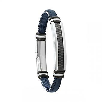 Bracelet Homme Jourdan JH150012B - GRANT - Cuir bleu