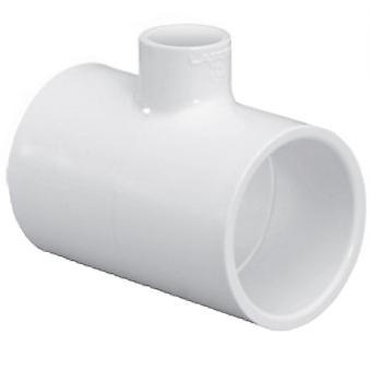 "Lasco 401-130 1"" x 1"" x 0.5"" PVC Schedule 40 Reducing Tee"