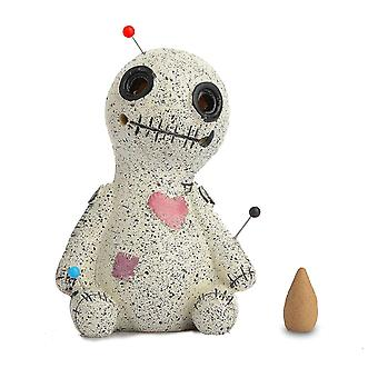 Right voodoo doll incense cone burner desktop resin ornament for home decration cai1392