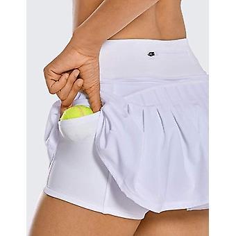 Kvinder Sports Plisseret Tennis Golf Nederdel, Høj Elastisk Kort Nederdel