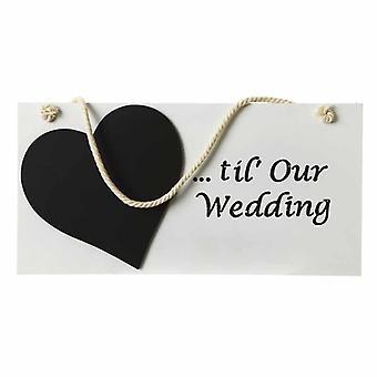 Days Til Our Wedding Hanging Sign By Heaven Sends