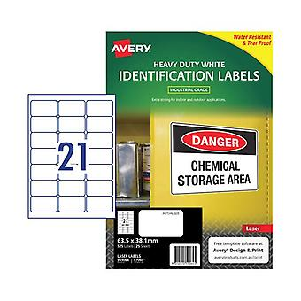 Avery Laser Label L7060 21Up Pack Of 25