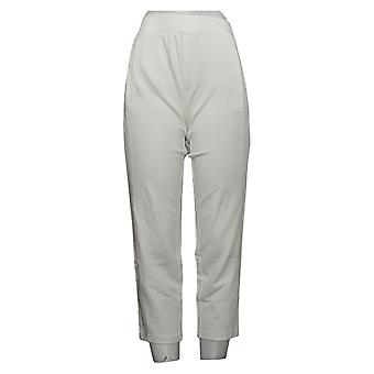 H by Halston Women's Petite Pants Pull On Slim Leg White A303213