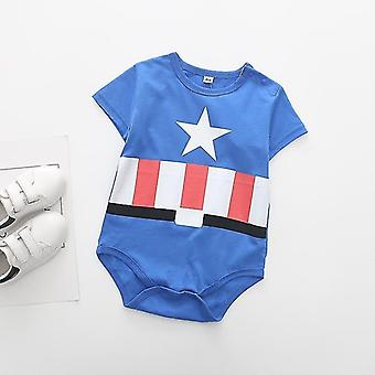 new 24m superman summer baby rompers short sleeves sm14502