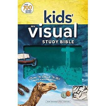 NIV Enfants Étude visuelle Bible Leathersoft Sarcelle Intérieur en couleur Explorez l'histoire de la BiblePeople Lieux et histoire par Zondervan
