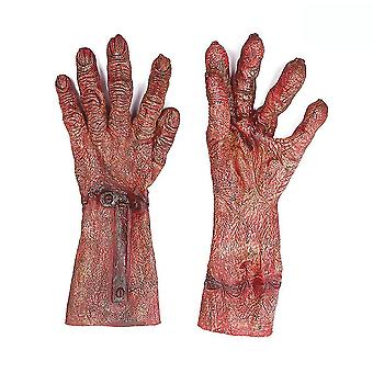 Zombie Blood Cosplay Rukavice Halloween Party Funny Kostým Červený
